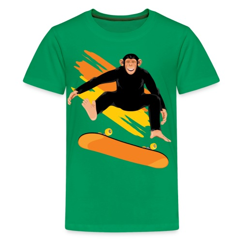 Monkey on the skateboard - Kids' Premium T-Shirt