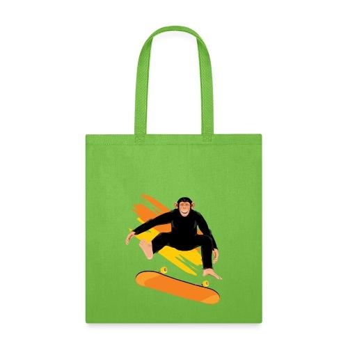 Monkey on the skateboard - Tote Bag