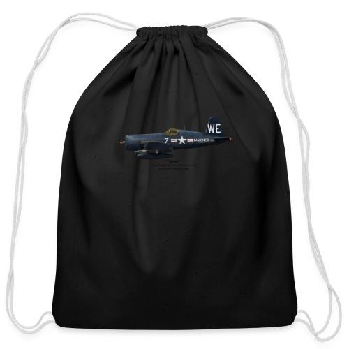 F4U-4 Corsair - McPhail - Cotton Drawstring Bag