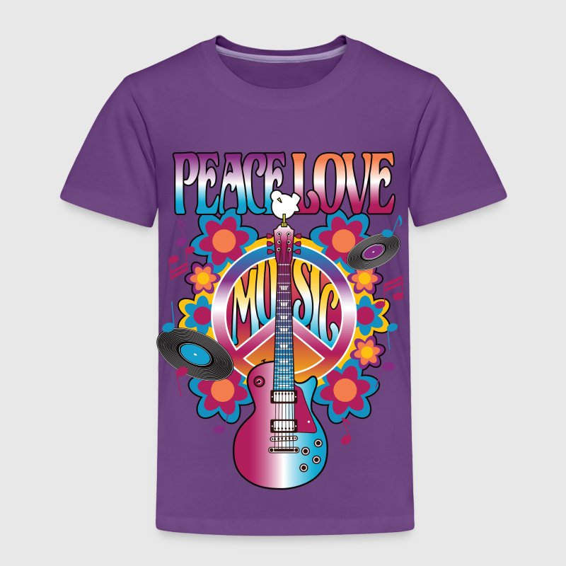 Peace Love Music - Toddler Premium T-Shirt