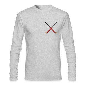 Crossed Field Hockey Sticks - Men's Long Sleeve T-Shirt by Next Level