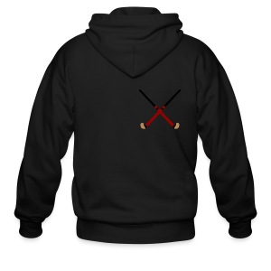 Crossed Field Hockey Sticks - Men's Zip Hoodie