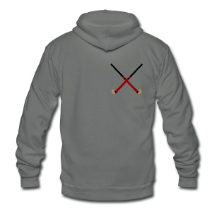 Crossed Field Hockey Sticks - Unisex Fleece Zip Hoodie