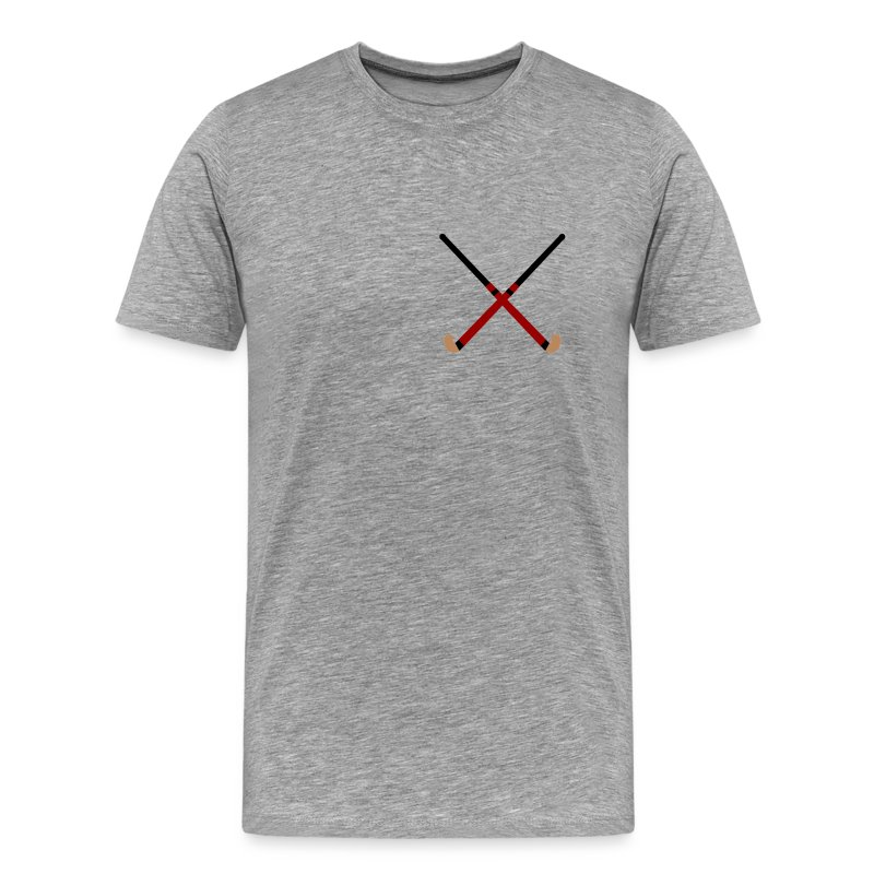 Crossed Field Hockey Sticks - Men's Premium T-Shirt