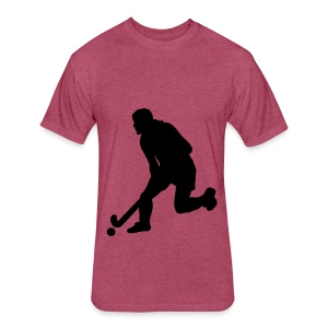 Women's Field Hockey Player in Silhouette - Fitted Cotton/Poly T-Shirt by Next Level