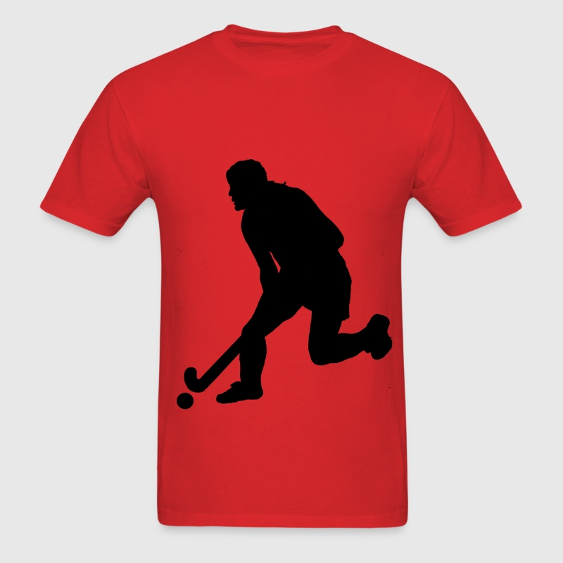 Women's Field Hockey Player in Silhouette - Men's T-Shirt