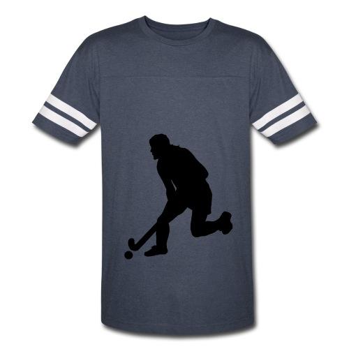Women's Field Hockey Player in Silhouette - Vintage Sport T-Shirt