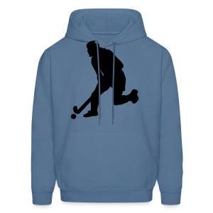 Women's Field Hockey Player in Silhouette - Men's Hoodie