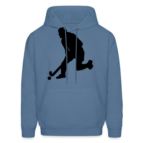 Women's Field Hockey Player in Silhouette - Men's Hoodie