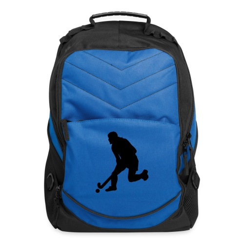 Women's Field Hockey Player in Silhouette - Computer Backpack