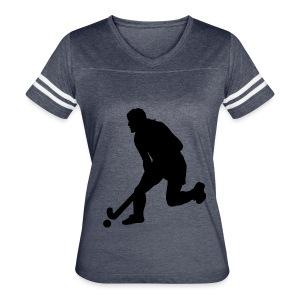 Women's Field Hockey Player in Silhouette - Women's Vintage Sport T-Shirt