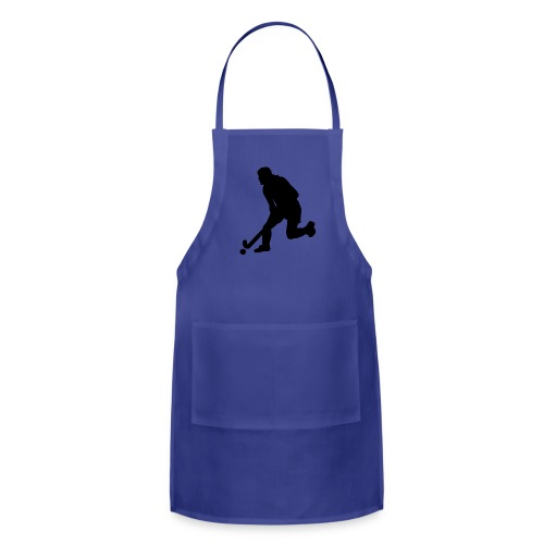 Women's Field Hockey Player in Silhouette - Adjustable Apron