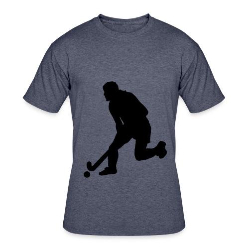 Women's Field Hockey Player in Silhouette - Men's 50/50 T-Shirt