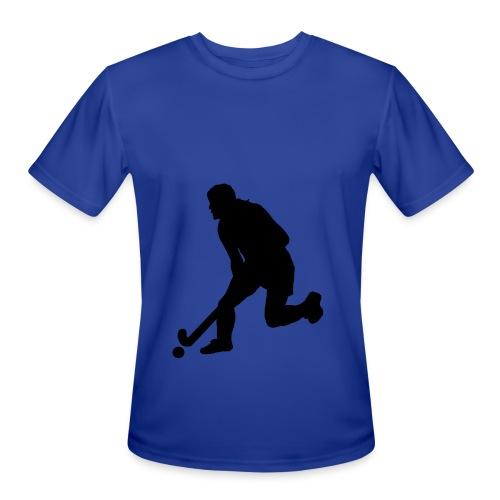 Women's Field Hockey Player in Silhouette - Men's Moisture Wicking Performance T-Shirt