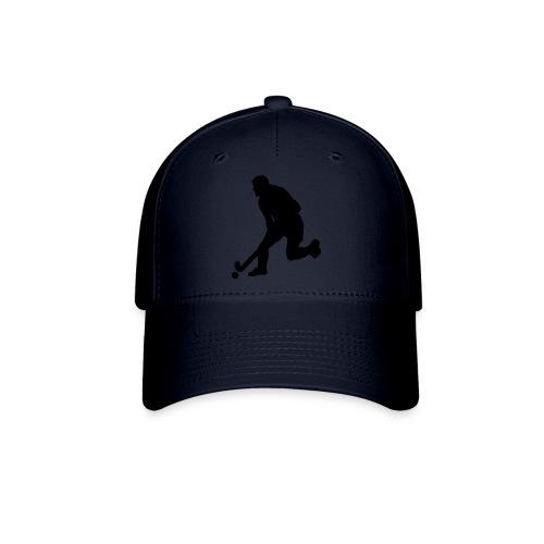 Women's Field Hockey Player in Silhouette - Baseball Cap