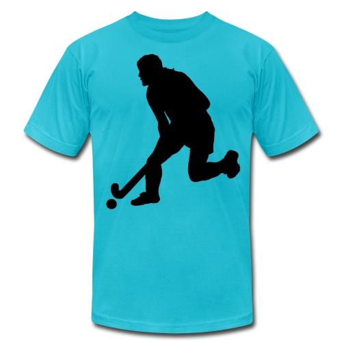 Women's Field Hockey Player in Silhouette - Men's  Jersey T-Shirt