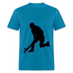 Women's Field Hockey Player in Silhouette - Men's T-Shirt