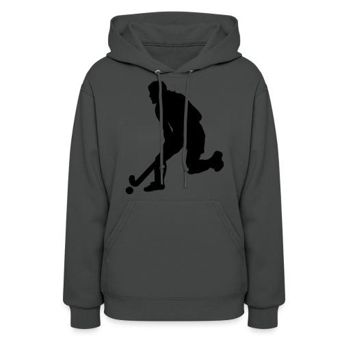 Women's Field Hockey Player in Silhouette - Women's Hoodie