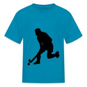 Women's Field Hockey Player in Silhouette - Kids' T-Shirt