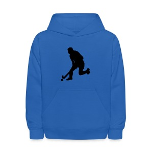 Women's Field Hockey Player in Silhouette - Kids' Hoodie