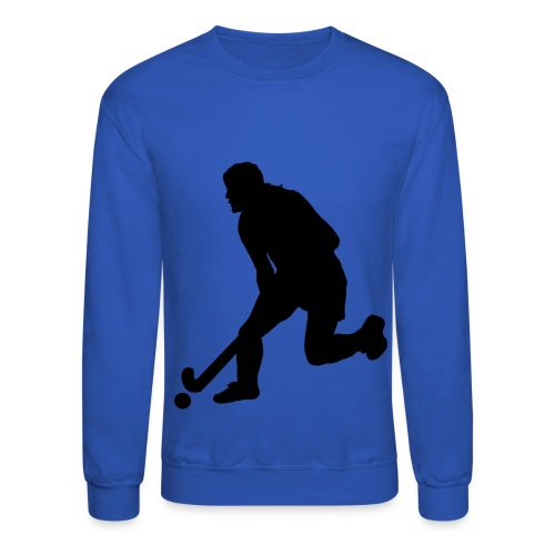 Women's Field Hockey Player in Silhouette - Crewneck Sweatshirt