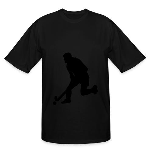 Women's Field Hockey Player in Silhouette - Men's Tall T-Shirt