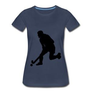 Women's Field Hockey Player in Silhouette - Women's Premium T-Shirt