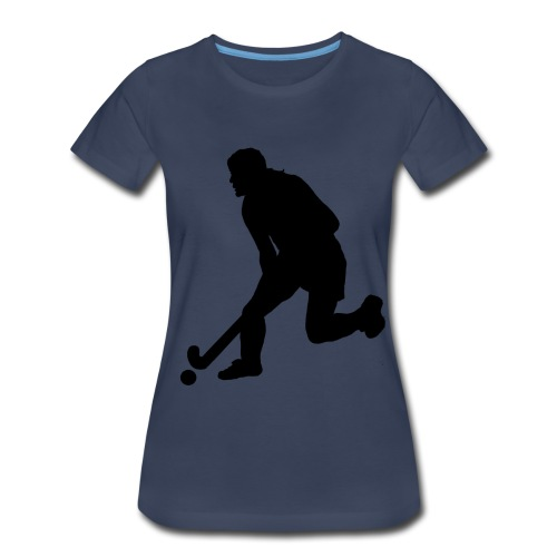 Women's Field Hockey Player in Silhouette - Women's Premium T-Shirt
