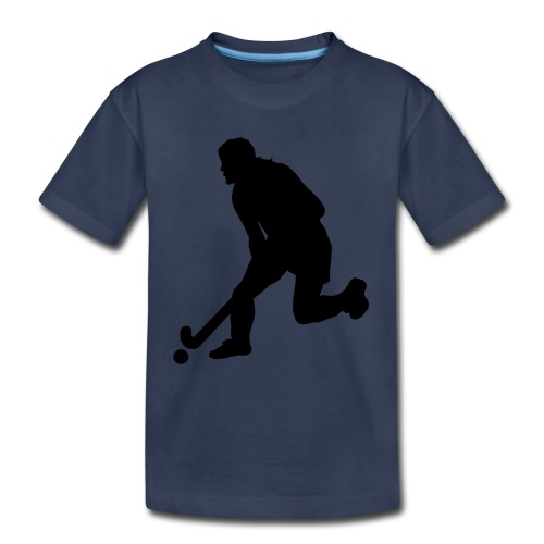 Women's Field Hockey Player in Silhouette - Toddler Premium T-Shirt