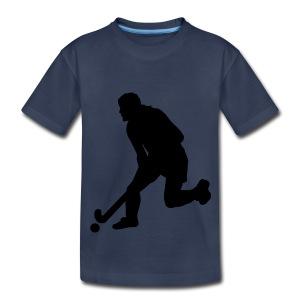Women's Field Hockey Player in Silhouette - Kids' Premium T-Shirt
