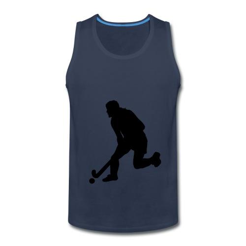 Women's Field Hockey Player in Silhouette - Men's Premium Tank