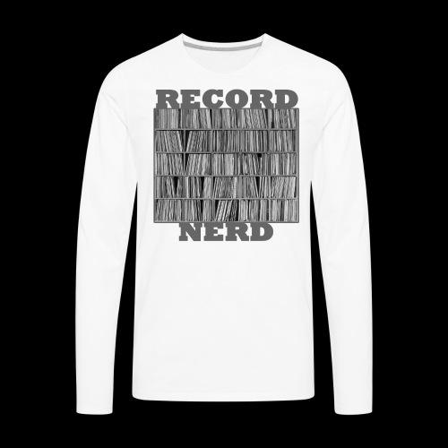 Record Nerd - Men's - Men's Premium Long Sleeve T-Shirt
