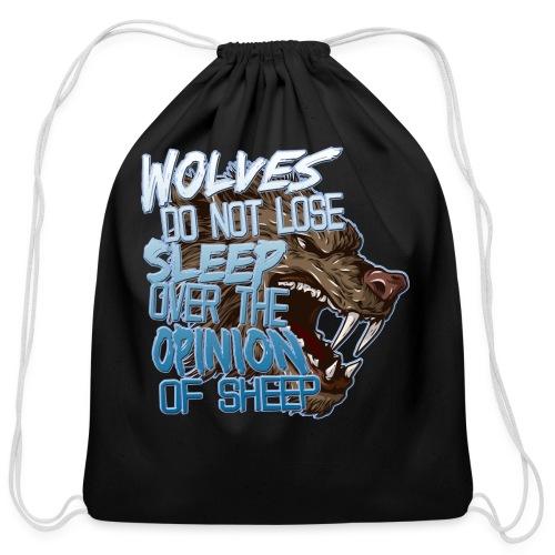Wolves - Cotton Drawstring Bag