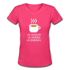 Coffee Stats Cup - Women's V-Neck T-Shirt