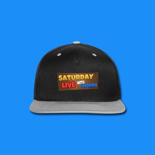 SATURDAY LIVE with LnDPro Man's T-Shirt - Snap-back Baseball Cap