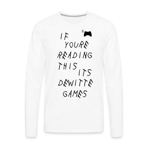 DeWitteGames Woes T - Men's Premium Long Sleeve T-Shirt