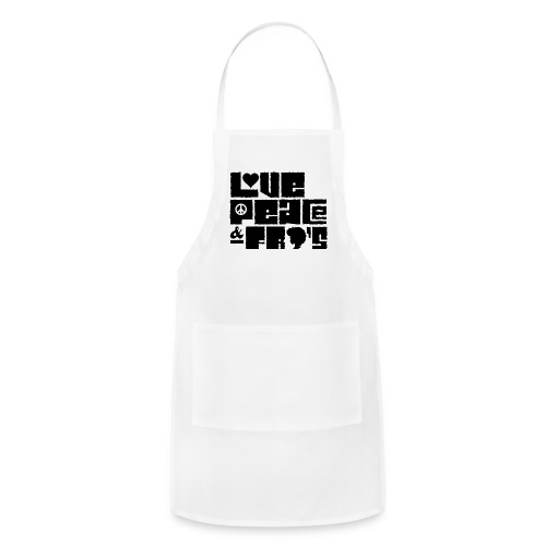 Love, Peace, &Fro's Ringer T-shirt - Adjustable Apron