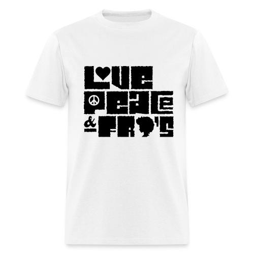 Love, Peace, &Fro's Ringer T-shirt - Men's T-Shirt