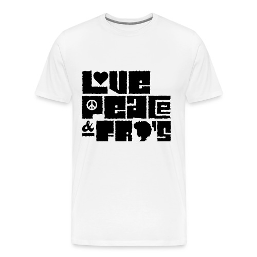 Love, Peace, &Fro's Ringer T-shirt - Men's Premium T-Shirt
