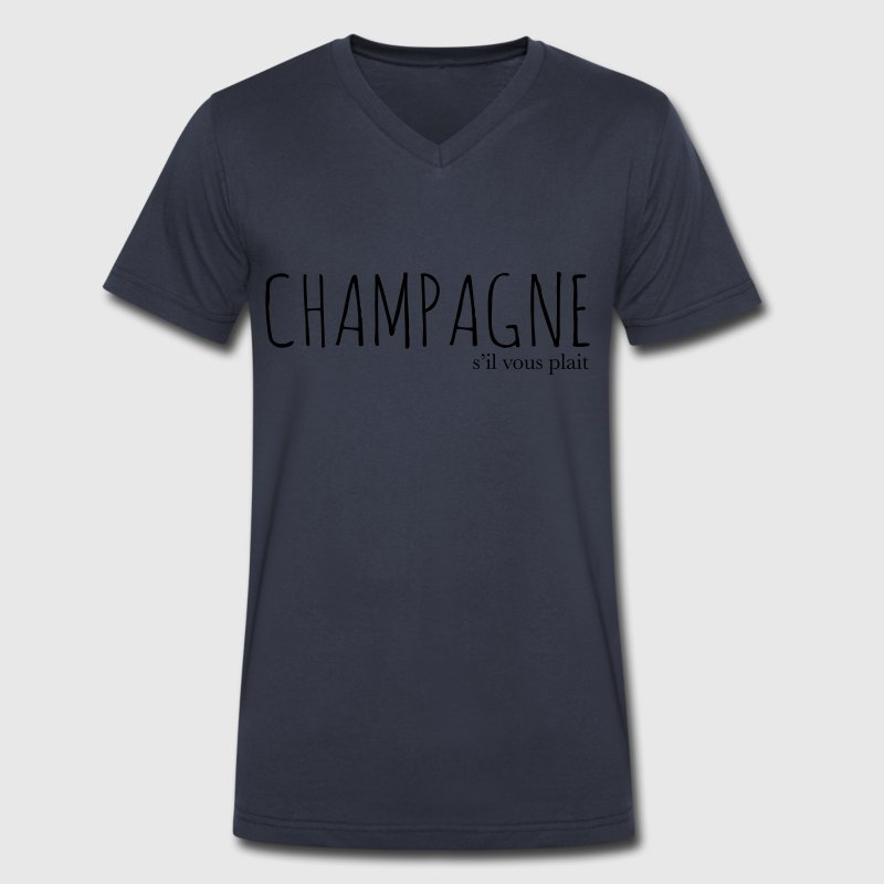 CHAMPAGNE S'IL VOUS PLAIT - Men's V-Neck T-Shirt by Canvas