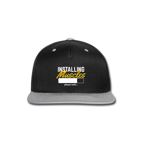 INSTALLING MUSCLES - Men's T-shirt - Snap-back Baseball Cap