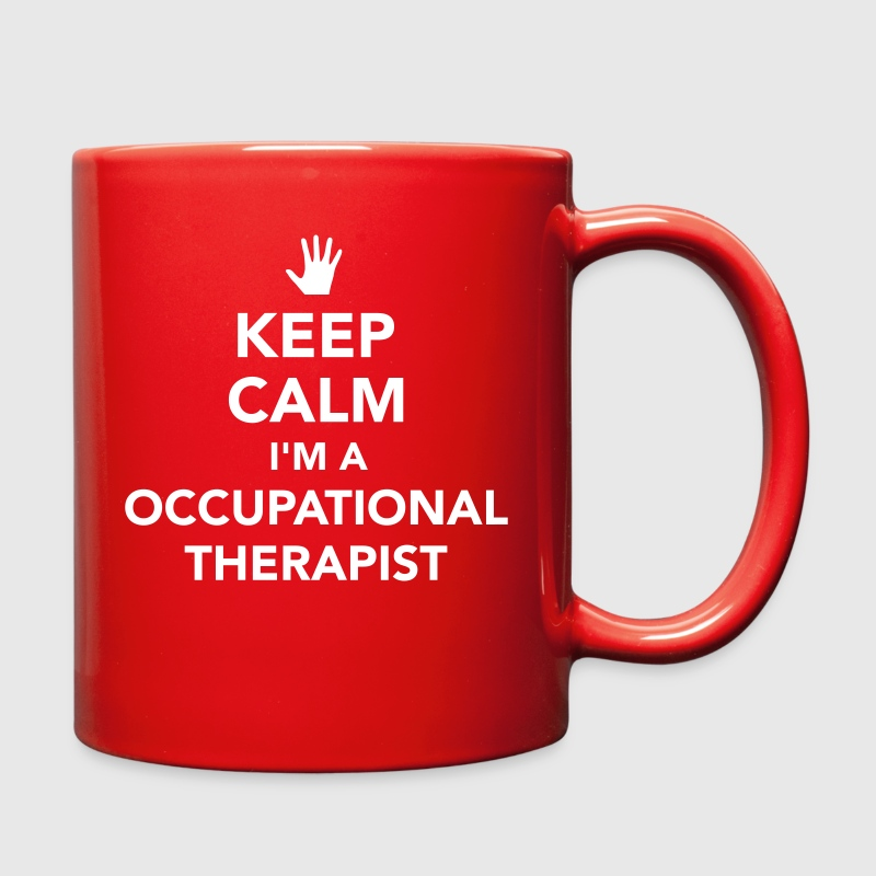 Keep calm I'm occupational therapist Mugs & Drinkware - Full Color Mug