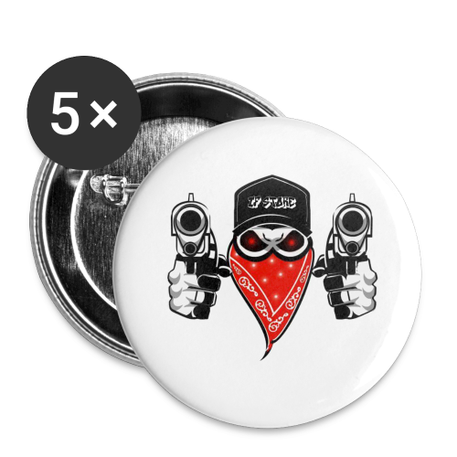 gun - Buttons small 1'' (5-pack)