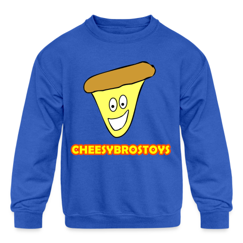 CheesyBrosToys Kid's Shirt (Assorted Colors Available) - Kid's Crewneck Sweatshirt