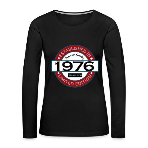 1976 Birthday Shirt - Women's Premium Long Sleeve T-Shirt