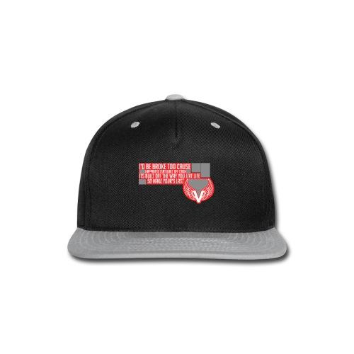 Vanityz Quote Tee - Snap-back Baseball Cap