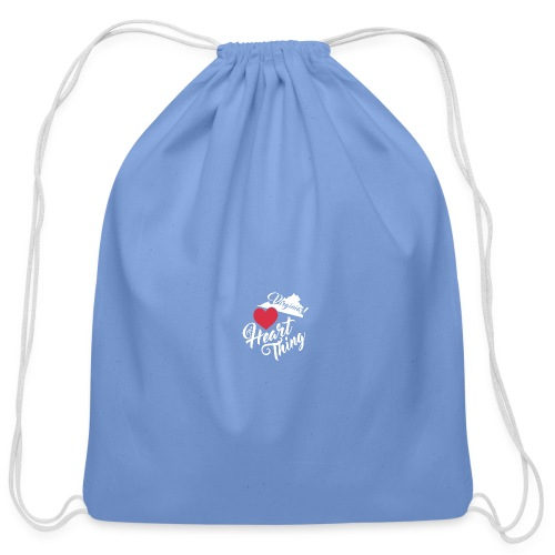 It's a Heart Thing Virginia - Cotton Drawstring Bag