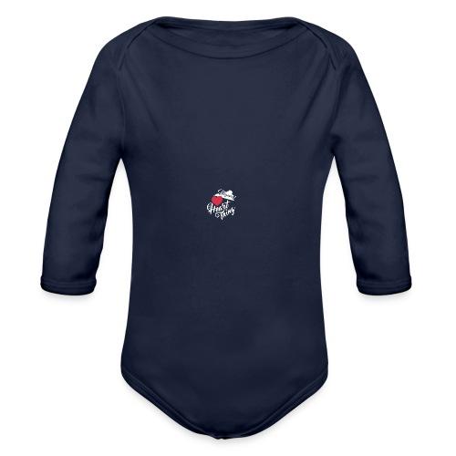 It's a Heart Thing Virginia - Organic Long Sleeve Baby Bodysuit