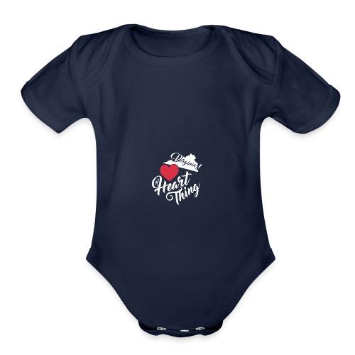 It's a Heart Thing Virginia - Organic Short Sleeve Baby Bodysuit