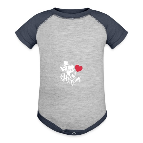 It's a Heart Thing Texas - Baby Contrast One Piece
